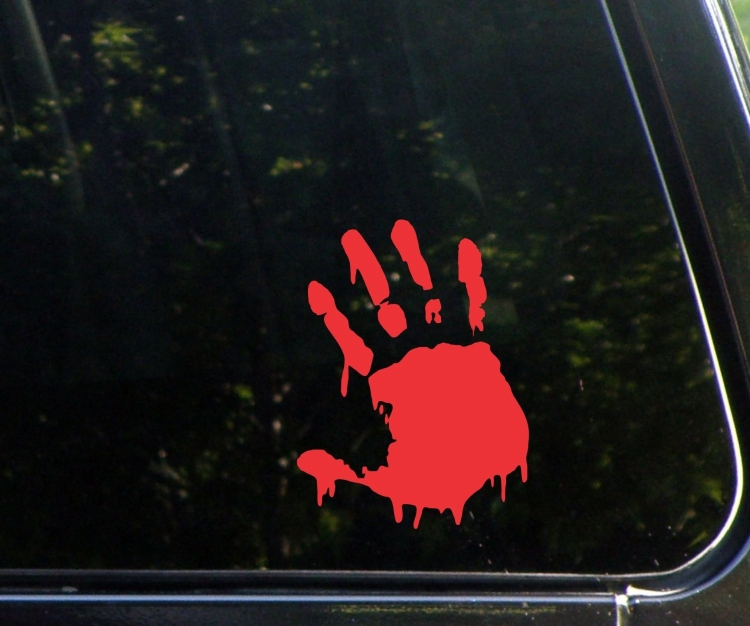 BLOODY ZOMBIE HAND PRINT