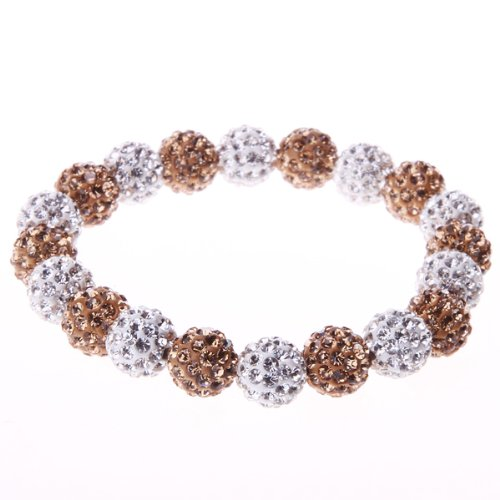 Bead Stretch Bracelet Shamballa Style