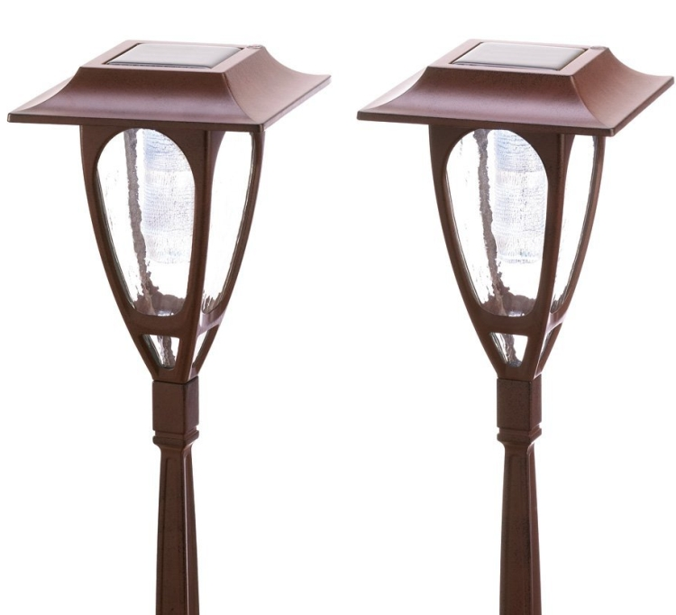 Classic Metal Solar Carriage Lamp Light Garden Stakes