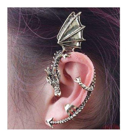 Gothic Earring Classic Dragon Ear Wrap Cuff Earring