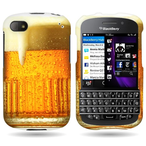 Hard Cover Case with BEER MUG DESIGN for BLACKBERRY Q10 With PRY