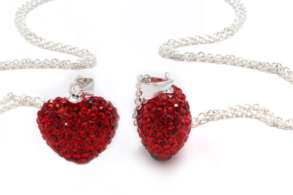 Heart Shape Crystals Pendant