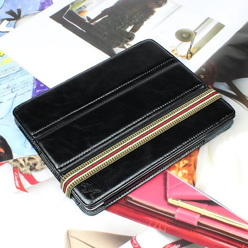 High Gloss PU Leather Case with Built-in Portrait
