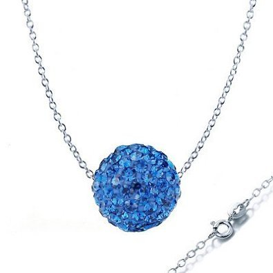 Swarovski Elements Crystal Diamond Color Bead Ball Cz Necklace Pendant