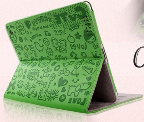 Green Case Cover for iPad 2/3/4