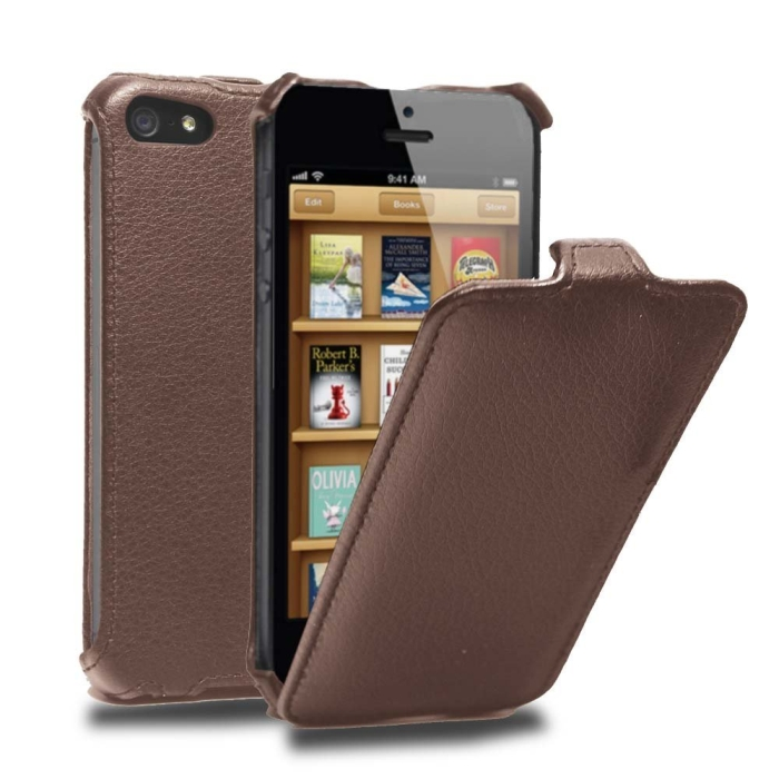 Flipper Leather Cover Case for Apple new iPhone 5 / iPhone 5S