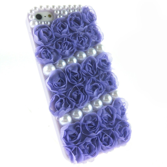Luxury 3d Rose Pearls Hard Case Cover for Iphone 5S 5 5th 5G