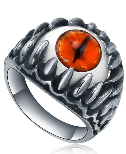Orange Red Eye ring