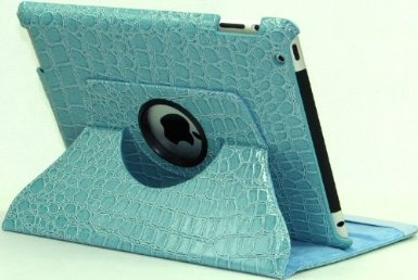 Rotating Stand Crocodile Case for iPad 2/3/4