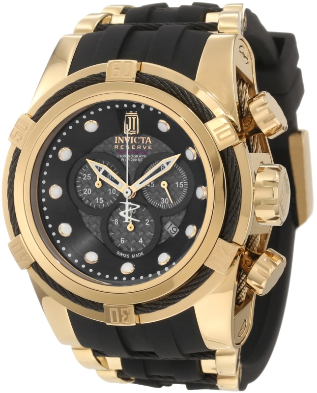 Invicta Collection Black Polyurethane Watch