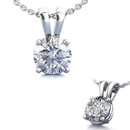 1.50 Carat Sterling 925 Silver Solitaire Pendant Slider