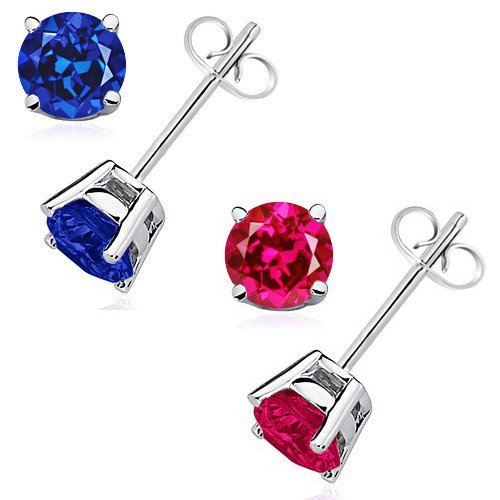 925 Sterling Silver 2.00 Carat Earrings
