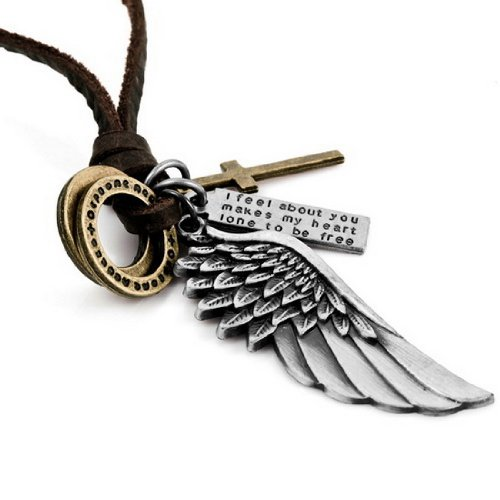 Alloy Genuine Leather Pendant Necklace