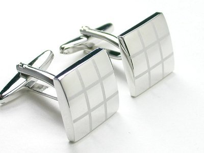 Classic Laser Engraved Cufflinks