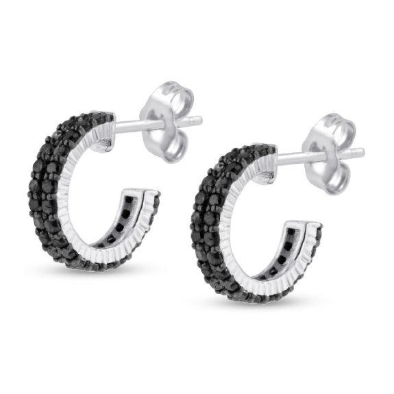 Diamond Pave Hoop Huggy Earrings