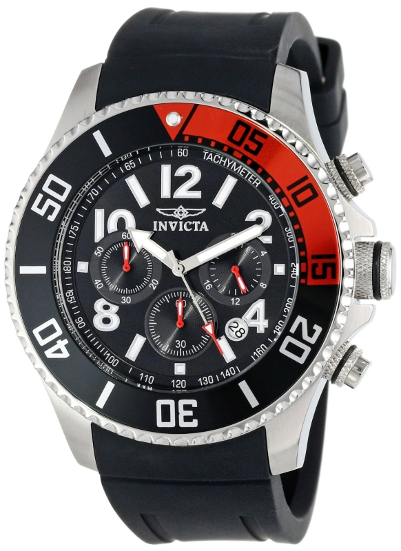 Invicta Men's Polyurethane Band Watch