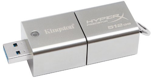 Kingston Digital HyperX Predator DataTraveler 512GB USB 3.0 Flash Drive (DTHXP30/512GB)