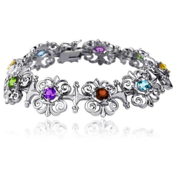 Multi-Gemstone Intricate Bracelet