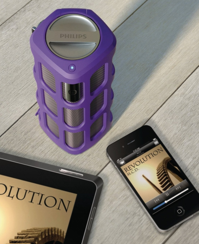Wireless Portable Bluetooth Speaker with Built-In Mic