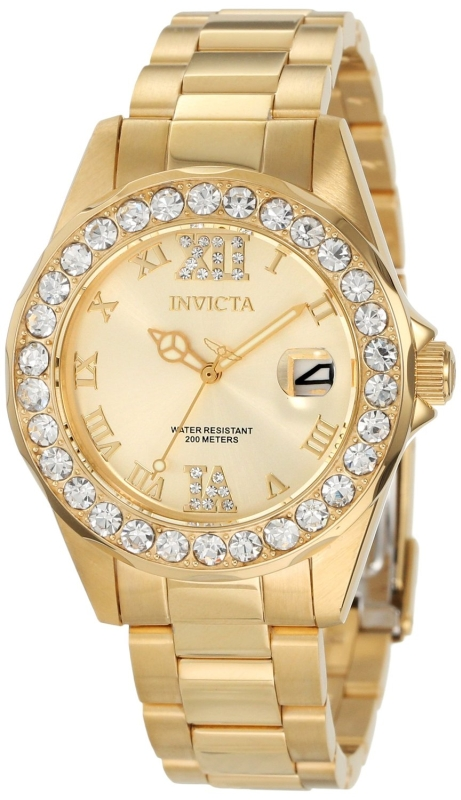 Invicta Women's Gold plated Stainless Steel Watch