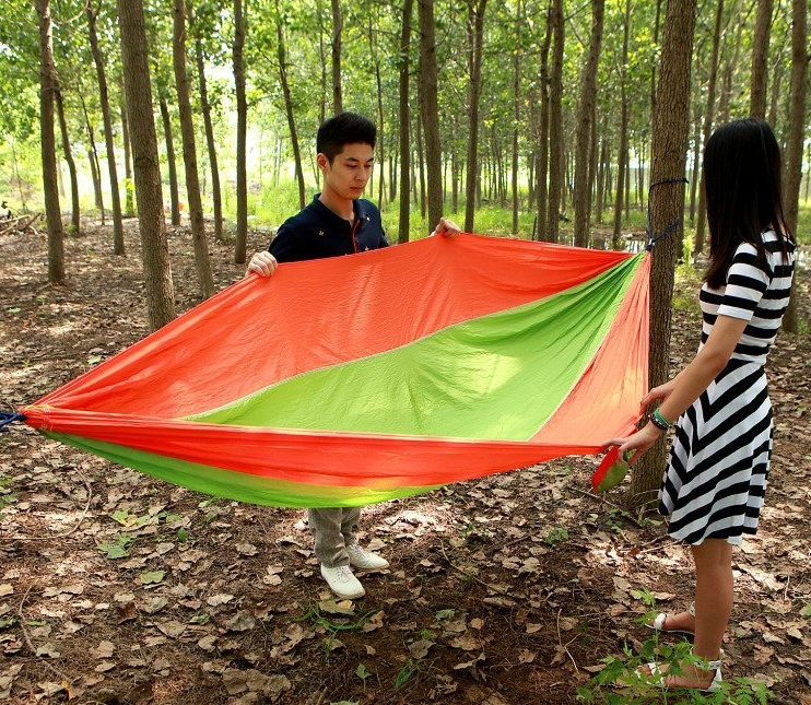 Portable Nylon Fabric Travel Camping Hammock