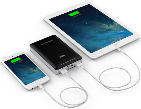 13000mAh External Battery Portable Dual USB Charger
