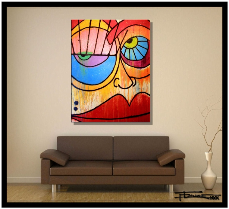 Abstract Modern Canvas Painting, Contemporary Wall Art