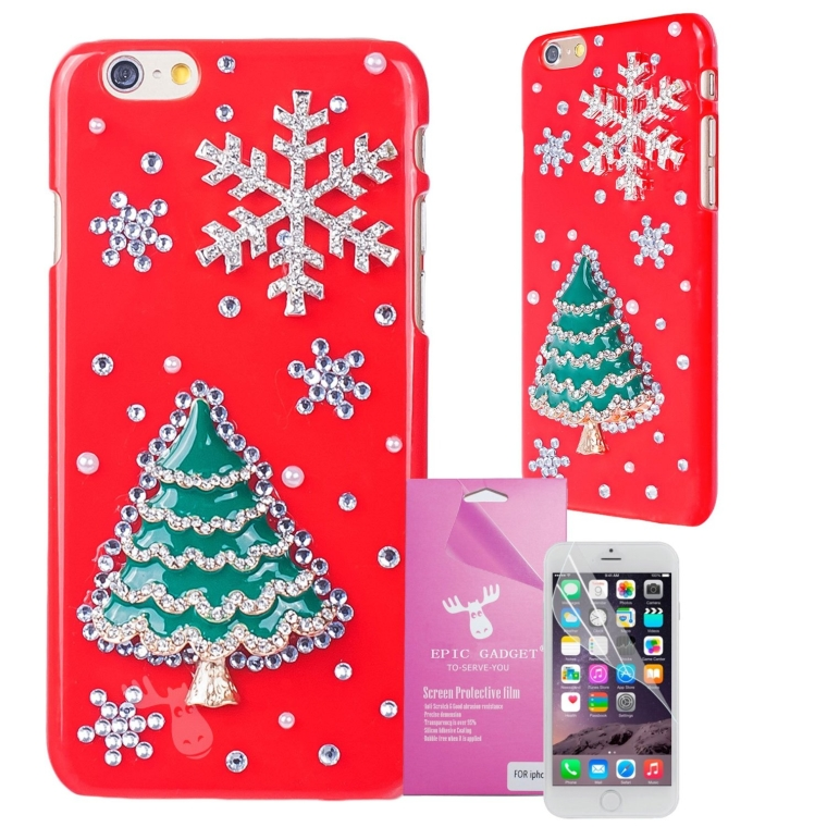 Christmas Tree with Snowflake iPhone 6 Case