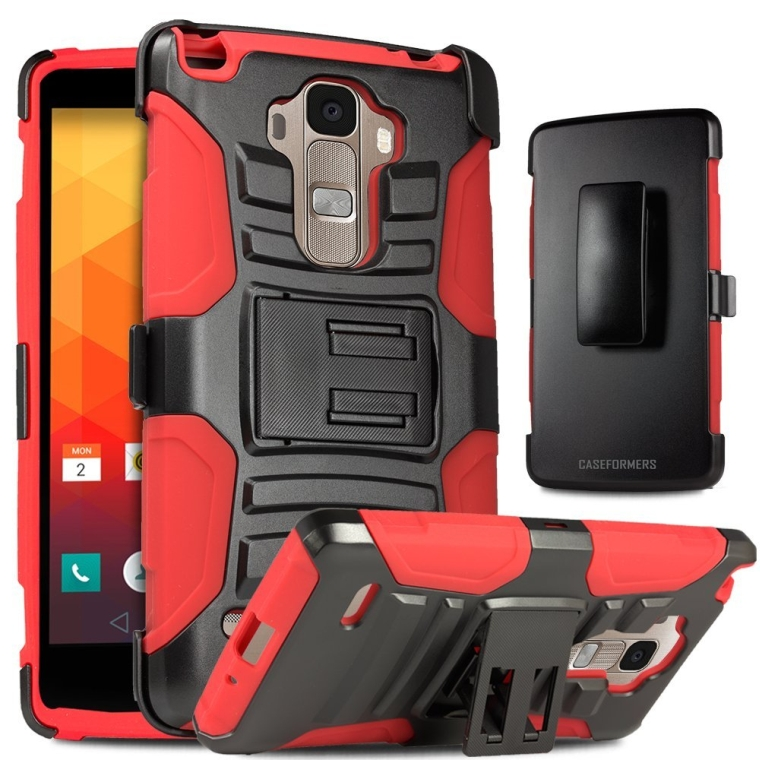 LG Stylo Case, Caseformers Duo Armor for LG G Stylo Combo Case with Stand and Holster