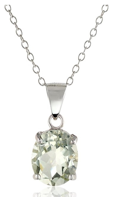 Silver and Gemstone Pendant Necklace