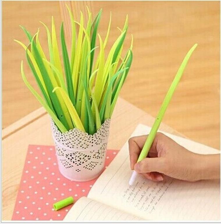 Grass-blade Ballpoint Silicon Grass Pen