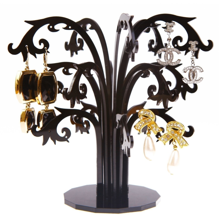 Luxury Gifts Inc Black Tree Jewelry HolderDisplayOrganizer