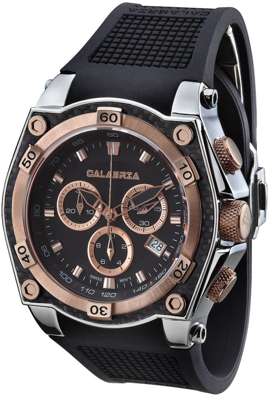Rose Gold Two Tone Chronograph Men's Watch