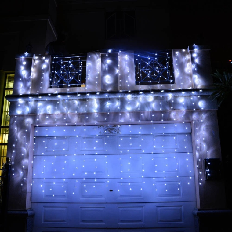 White Curtain Icicle String lights 750 LED 6 x 3m Fairy Decorative Christmas Lighting