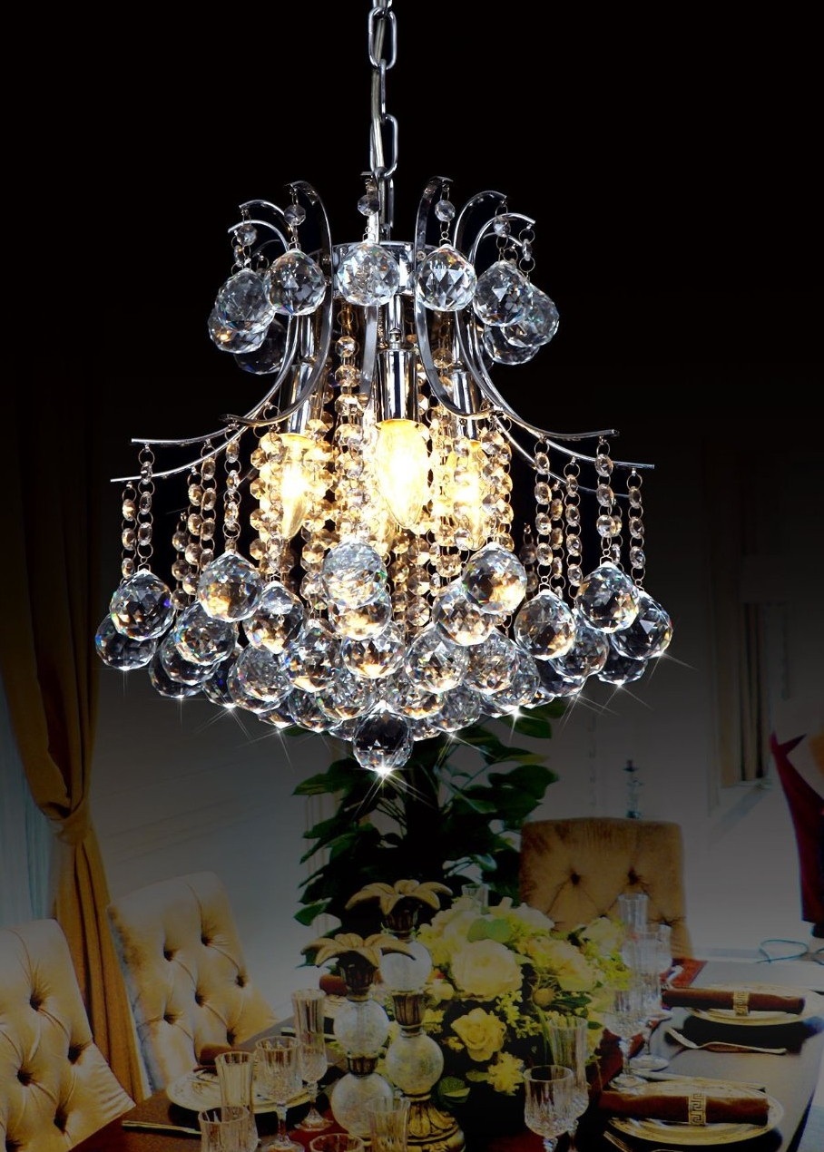Vintage Style Chic Rain Drop Crystal Mordern Chandelier LED Lighting Kitchen